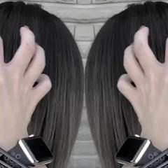 ミディアム アッシュベージュ ストリート バレイヤージュ ヘアスタイルや髪型の写真・画像