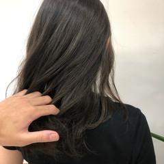ミディアム ブリーチなし フェミニン ダメージレス ヘアスタイルや髪型の写真・画像