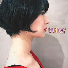前下がり ショート 簡単ヘアアレンジ かっこいい ヘアスタイルや髪型の写真・画像