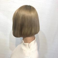 ワンレングラボブ ボブ ミニボブ ワンレングス ヘアスタイルや髪型の写真・画像