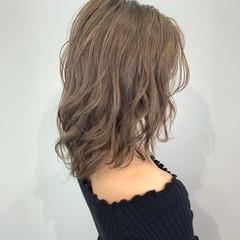 ナチュラル セミロング 似合わせカット ブランジュ ヘアスタイルや髪型の写真・画像