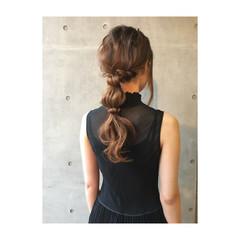 結婚式 ロング フェミニン ヘアアレンジ ヘアスタイルや髪型の写真・画像