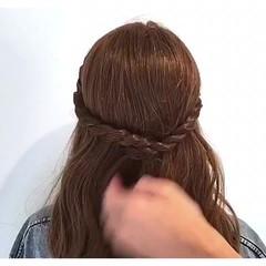 女子会 涼しげ ヘアアレンジ デート ヘアスタイルや髪型の写真・画像