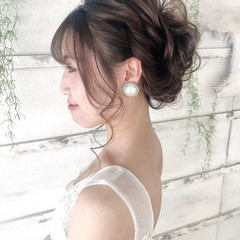 ヘアアレンジ 簡単ヘアアレンジ 結婚式 花嫁 ヘアスタイルや髪型の写真・画像