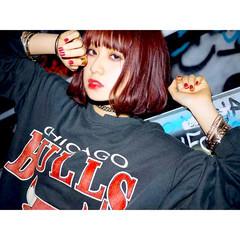 ウェットヘア 外国人風 赤茶 ストリート ヘアスタイルや髪型の写真・画像
