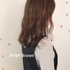 ミディアム ナチュラル 大人女子 ブラウンベージュ ヘアスタイルや髪型の写真・画像