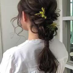 結婚式ヘアアレンジ セルフヘアアレンジ 簡単ヘアアレンジ ヘアアレンジ ヘアスタイルや髪型の写真・画像