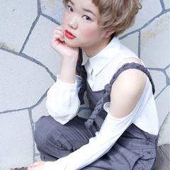 パーマ ピュア マッシュ ショート ヘアスタイルや髪型の写真・画像