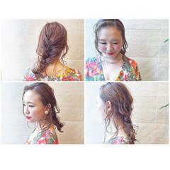 無造作 ミディアム ヘアアレンジ 大人女子 ヘアスタイルや髪型の写真・画像