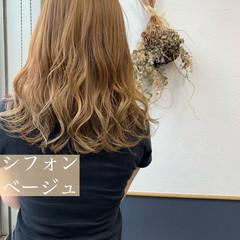 ヌーディベージュ アッシュベージュ ミルクティーベージュ シアーベージュ ヘアスタイルや髪型の写真・画像