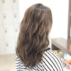 外国人風 ヘアアレンジ セミロング ブリーチ ヘアスタイルや髪型の写真・画像