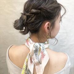 結婚式 フェミニン ボブ 簡単ヘアアレンジ ヘアスタイルや髪型の写真・画像