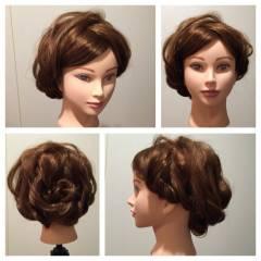 ヘアアレンジ ロング ブライダル コンサバ ヘアスタイルや髪型の写真・画像