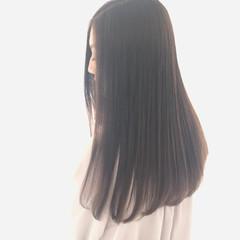 ロング ナチュラル ストレート 髪質改善カラー ヘアスタイルや髪型の写真・画像
