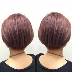ショート モード ショートボブ ピンク ヘアスタイルや髪型の写真・画像