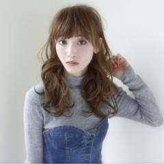 暗髪 ゆるふわ コンサバ ロング ヘアスタイルや髪型の写真・画像