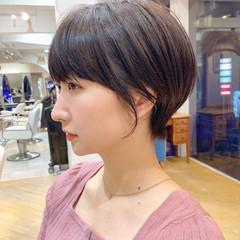 小顔ショート ナチュラル 横顔美人 ショート ヘアスタイルや髪型の写真・画像