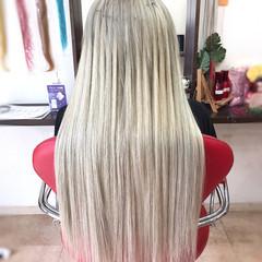 韓国ヘア ストリート ロング ハイトーン ヘアスタイルや髪型の写真・画像