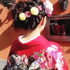 ロング ヘアアレンジ アップスタイル 着物 ヘアスタイルや髪型の写真・画像
