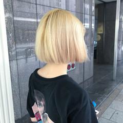モード ボブ ブリーチ 透明感 ヘアスタイルや髪型の写真・画像