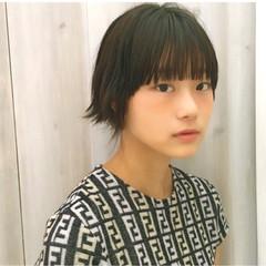 黒髪 ナチュラル ピュア ショート ヘアスタイルや髪型の写真・画像