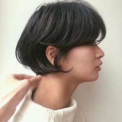 黒髪 ショートボブ ボブ ショート ヘアスタイルや髪型の写真・画像