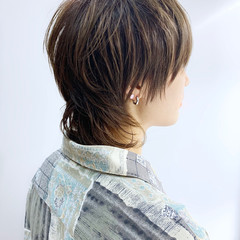 ニュアンスウルフ ショート ナチュラル ウルフカット ヘアスタイルや髪型の写真・画像