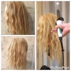 ショート ハーフアップ セミロング パーティ ヘアスタイルや髪型の写真・画像