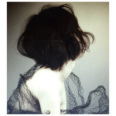 ボブ 外国人風 ショート ナチュラル ヘアスタイルや髪型の写真・画像