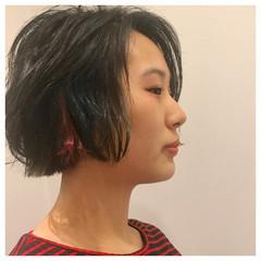 ハイライト 色気 ストリート 黒髪 ヘアスタイルや髪型の写真・画像