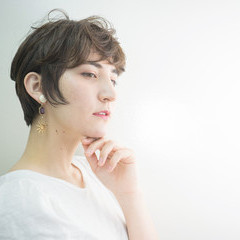 撮影 ショート ナチュラル 透明感 ヘアスタイルや髪型の写真・画像