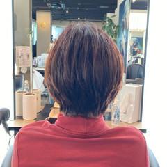 フェミニン ショート 抜け感 ハンサムショート ヘアスタイルや髪型の写真・画像