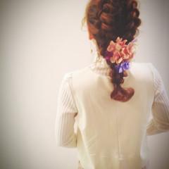 結婚式 ロング 簡単ヘアアレンジ ヘアアレンジ ヘアスタイルや髪型の写真・画像
