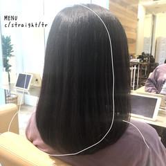 縮毛矯正 グレージュ ストレート 髪質改善 ヘアスタイルや髪型の写真・画像