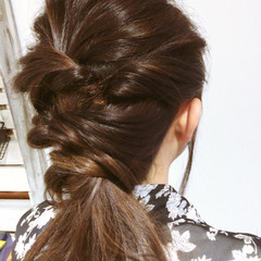 艶髪 外国人風 ウェーブ セミロング ヘアスタイルや髪型の写真・画像
