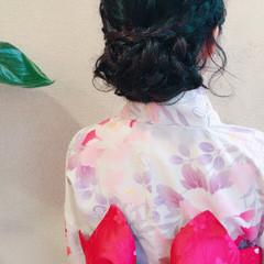 ガーリー 色気 花火大会 夏 ヘアスタイルや髪型の写真・画像