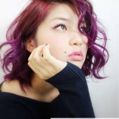 レッド 愛され ピンク モテ髪 ヘアスタイルや髪型の写真・画像