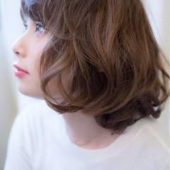 ミディアム ボブ コンサバ モテ髪 ヘアスタイルや髪型の写真・画像