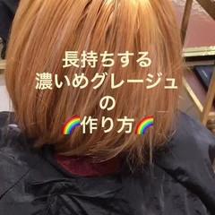 フェミニン エフォートレス ストリート ボブ ヘアスタイルや髪型の写真・画像