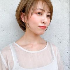 ショート 小顔ヘア ナチュラル 丸みショート ヘアスタイルや髪型の写真・画像