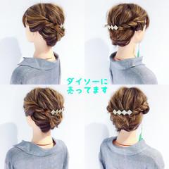 簡単ヘアアレンジ ヘアアレンジ フェミニン オフィス ヘアスタイルや髪型の写真・画像