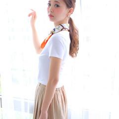 ヘアアレンジ ポニーテール ロング ピュア ヘアスタイルや髪型の写真・画像