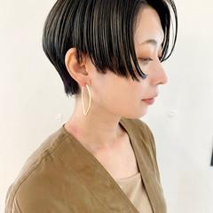 大人ショート ハンサムショート マッシュショート モード ヘアスタイルや髪型の写真・画像