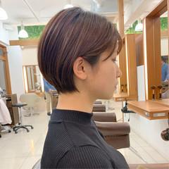 ショートヘア ナチュラル 大人可愛い 大人ショート ヘアスタイルや髪型の写真・画像