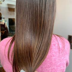 ナチュラル ロング AVEDA 髪質改善トリートメント ヘアスタイルや髪型の写真・画像