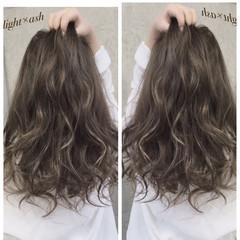 ロング アッシュ 外国人風 渋谷系 ヘアスタイルや髪型の写真・画像