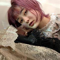 大人可愛い ウルフカット ピンクアッシュ ショートヘア ヘアスタイルや髪型の写真・画像