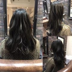 外国人風 セミロング ハイライト ストリート ヘアスタイルや髪型の写真・画像