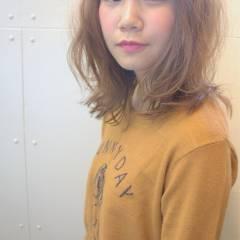 シースルーバング ナチュラル 無造作 ロブ ヘアスタイルや髪型の写真・画像
