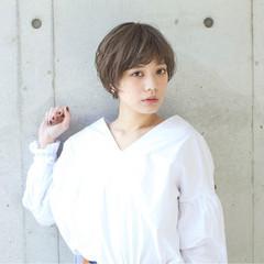 パーマ ナチュラル 外国人風カラー ショート ヘアスタイルや髪型の写真・画像